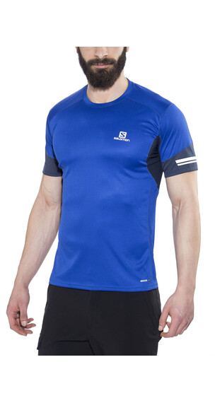Salomon Agile SS Tee Men blue yonder/big blue-x
